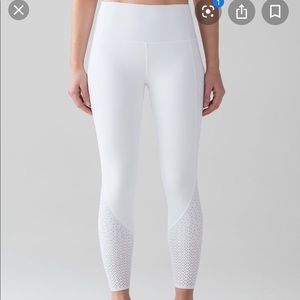 Lulu lemon white anew leggings